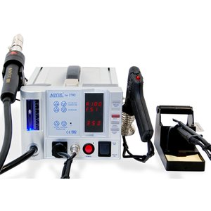 Lead-Free Hot Air Soldering Station AOYUE 2702 with Soldering Gun
