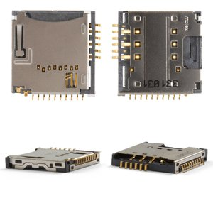 SIM Card Connector for LG GD310, GD580, KF350 Cell Phones, (with memory card connector)