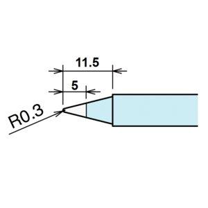 Soldering Iron Tip Goot RX-85HSRT-B