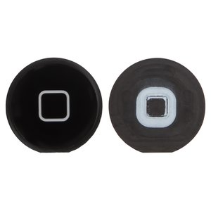 HOME Button Plastic compatible with Apple iPad 2, (black)