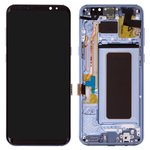 LCD compatible with Samsung G955 Galaxy S8 Plus, (blue, with touchscreen, with frame, Original (PRC), coral Blue, original glass)