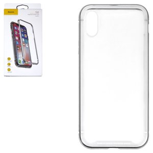Case Baseus compatible with iPhone X, (silver, transparent, magnetic) #WIAPIPHX-CS0S