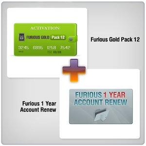 Renovación de acceso al servidor Furious Gold por 1 año  + Furious Gold Pack 12
