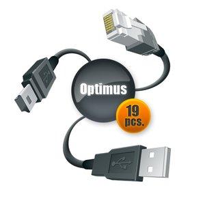 Juego de cables Optimus para Samsung y LG (19 uds.)