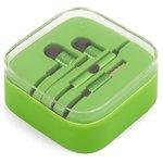Auricular EN50332-2, de vacío, verde, TRRS 3.5 mm