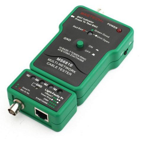 MASTECH MS6810 Тестер UTP, BNC и телефонного кабеля с тоновым генератором