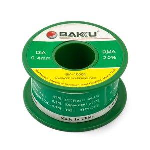 Припій BAKU BK-10004, Sn 97%, Ag 0.3%, Cu 0.7%, Flux 2%, 0.4 мм, 50 г