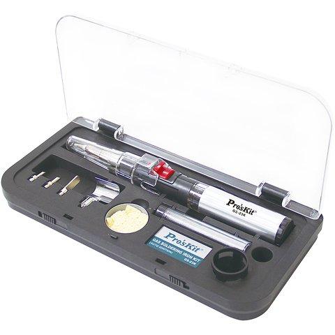 Газовий паяльник пальник з набором аксесуарів Pro'sKit GS 23K