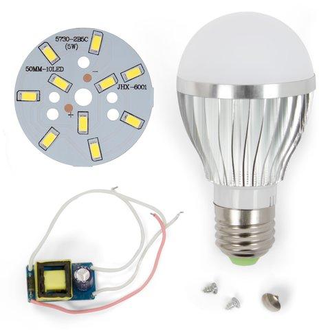 LED Light Bulb DIY Kit SQ Q02 5730 5 W cold white, E27