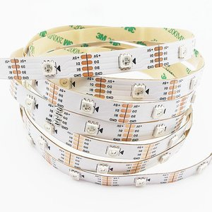 RGB LED Strip SMD5050, WS2813 (with controls, white, IP20, 5 V, 30 LEDs/m, 5 m)