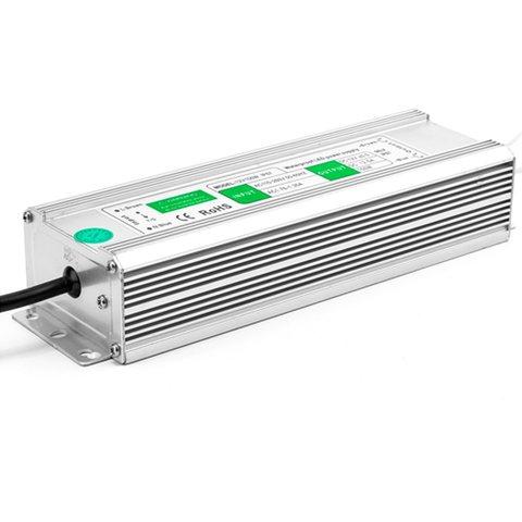 Fuente de alimentación para tiras LED de 12 V, 12.5 A (150 W), 90-250 V, IP67